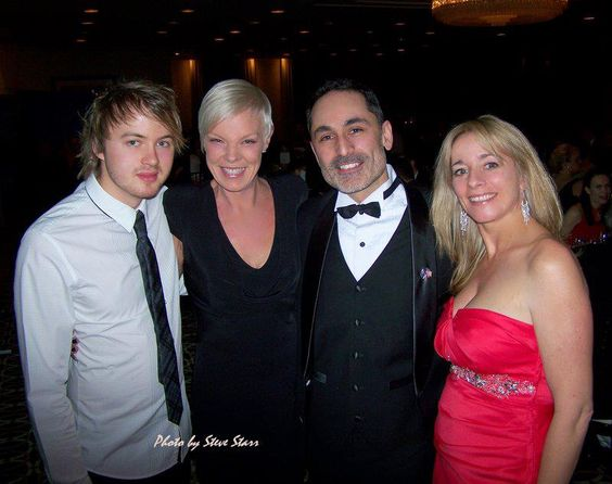 This photo was taken at the 2012 Australia Day Ball in Chicago, Illinois USA.  Joe Robinson winner of Australia's Got Talent 2008, Tabatha Coffey, hairstylist, salon owner, and television personality, Lorenzo Strano, Australian Consulate Chicago are pictured here with our very own Sasy n Savy USA distributor and representative Jacqueline ONeill, Director Chisam LLC.