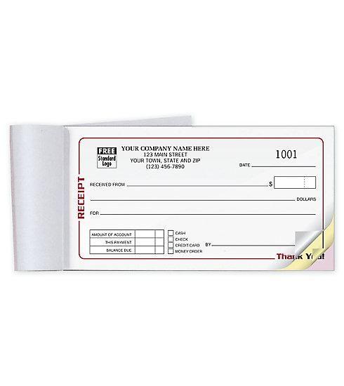 Small Pocket Size Cash Receipt Book Books Custom Print Receipt