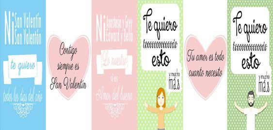 Ven a ver las tarjetas imprimibles para San Valentín de Chechu Rebota