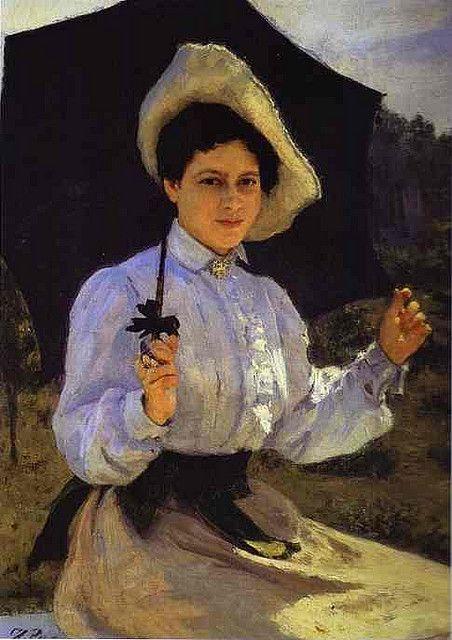 Repin, Ilya (1844-1930) - 1900 Portrait of Nadezhda Repina, the Artist's Daughter (Tretyakov Gallery) by RasMarley, via Flickr: