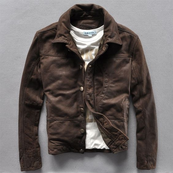 Jeep Leather Jacket Men S Casual Style Pinterest D