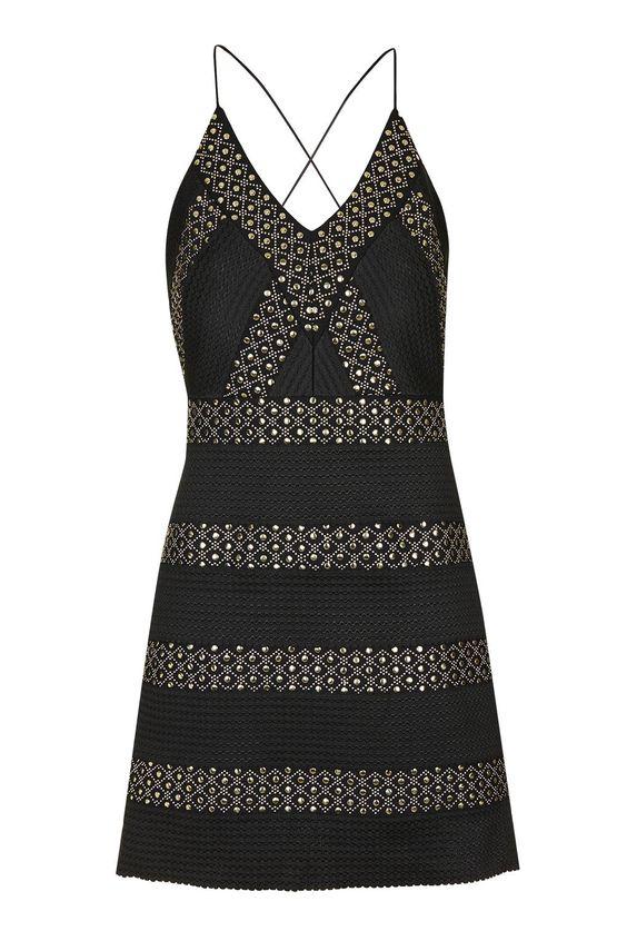 Plunge Detail Bodycon Dress - Topshop