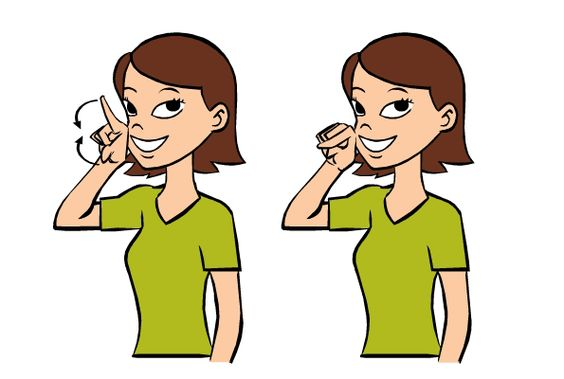 Bathroom In Sign Language video: potty in baby sign language signing: to sign potty, make