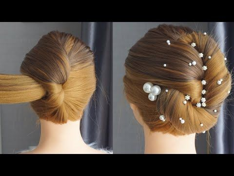Easy Hairstyle For Wedding On Gown Beautiful Simple Hairstyles For Saree Hair T Peinados Sencillos Peinados De Novia Sencillos Peinados Con Trenzas Faciles