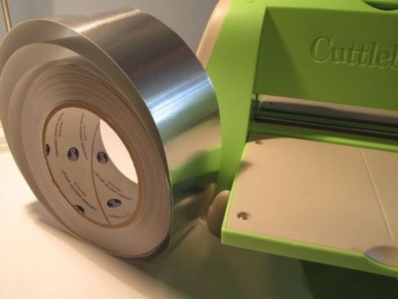 metal duct tape embossing