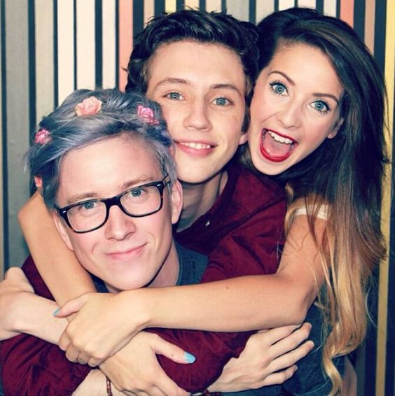 Zoella And Tyler Oakley Tyler, troy and zoella...