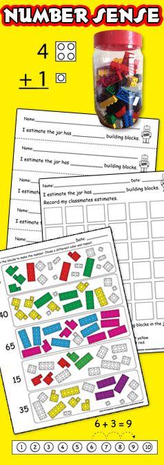 number sense addition subtraction math centers bulletin board worksheets printables. Black Bedroom Furniture Sets. Home Design Ideas