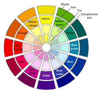 Fuchsia Color Wheel