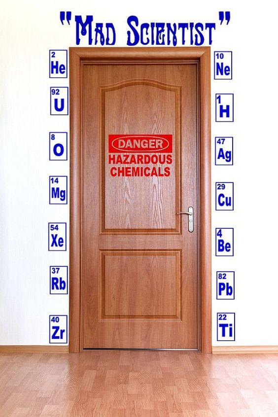 Laboratory Room Design: Chemistry Set Decals/ Danger Hazardous