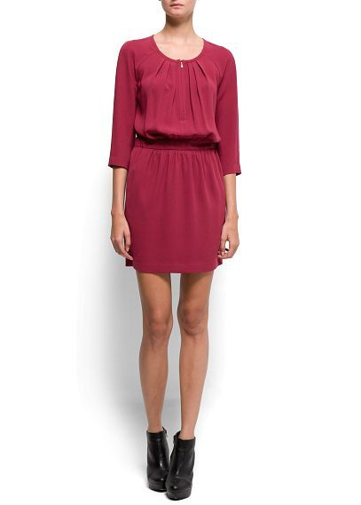 Pleated sheer dress