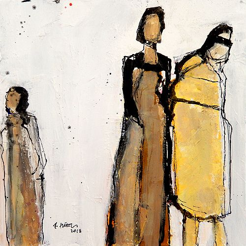 Figuren Gesichter Konrad Malerei