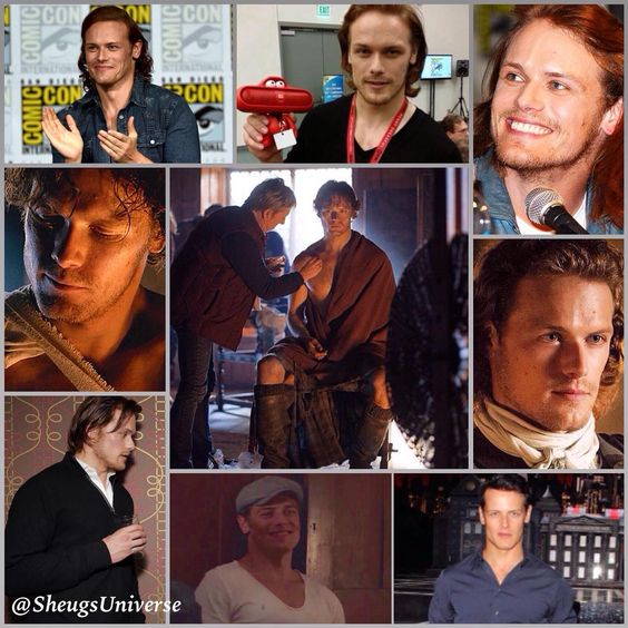"""How about this little thing:  DESCRIBE SAM IN 1 WORD!! (Of course you can look at today's post for inspirational help...) #SamHeughan #Actor…"""