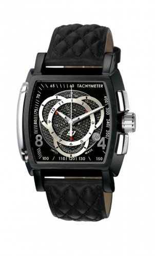 Invicta Herren-Armbanduhr Chronograph Quarz Schwarz 5401 - http://uhr.haus/invicta/black-stainless-steel-tonneau-s1-quartz-padded