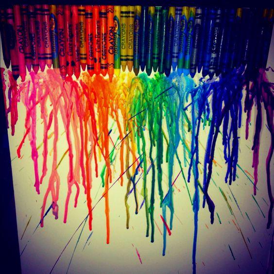 Crayon blowdryer art