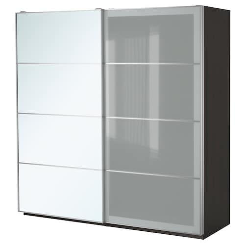Armadietti In Plastica Ikea.Pax Guardaroba Marrone Nero Auli Sekken Guardaroba Pax Ikea