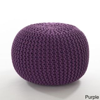 Cotton Twisted Rope Pouf - 16608498 - Overstock.com Shopping - Great Deals on Throw Pillows