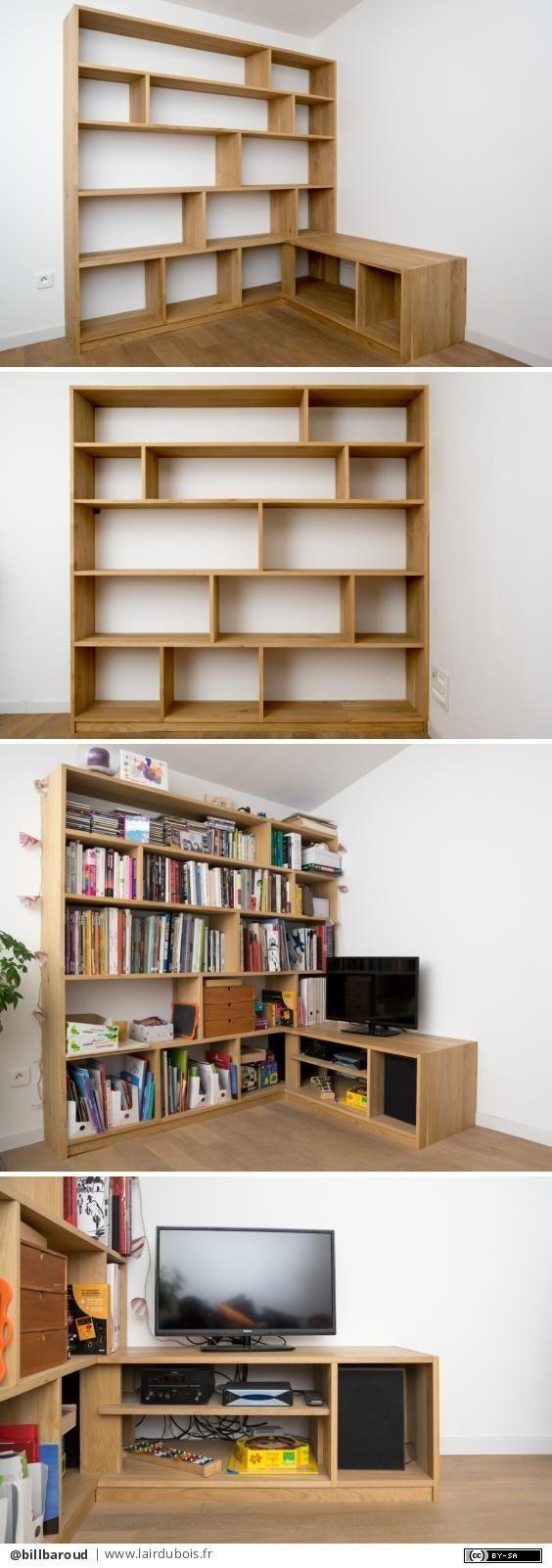 bibliotheque meuble tv d angle par