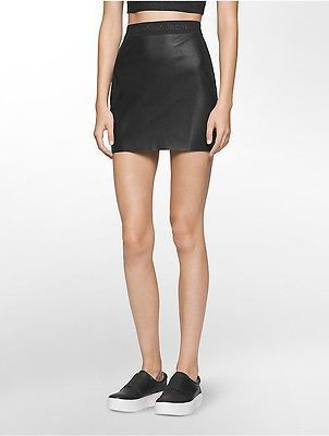 Calvin Klein Womens Logo Band Mini Skirt Frankie S