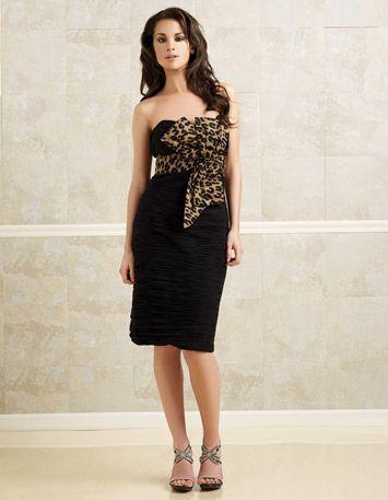 The bridesmaid dress!! It's got just enough cheetah print to make the wedding wild!!