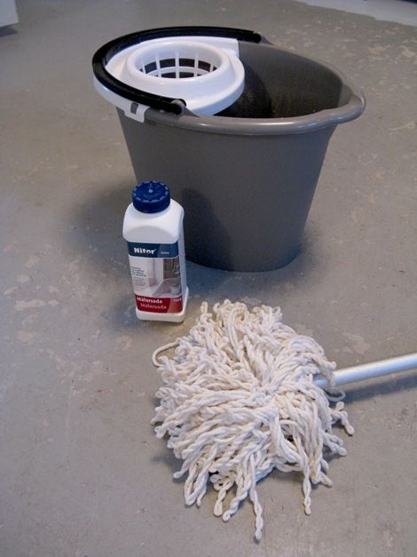 Painting a basement floor basement re model pinterest for How to degrease concrete garage floor