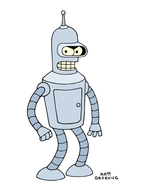 Cartoon Characters As Robots : Bender awesome robot character design cartoons and