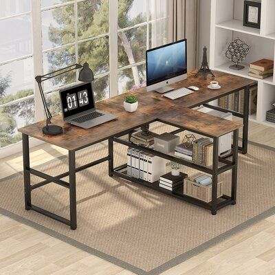 17 Stories 17 Stories 94 5 Inch Computer Desk Colour Rustic In 2021 Home Office Furniture Home Desk Home Office Decor
