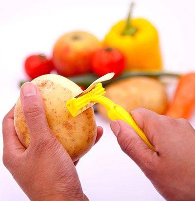 Epluche légumes rasoir jetable: