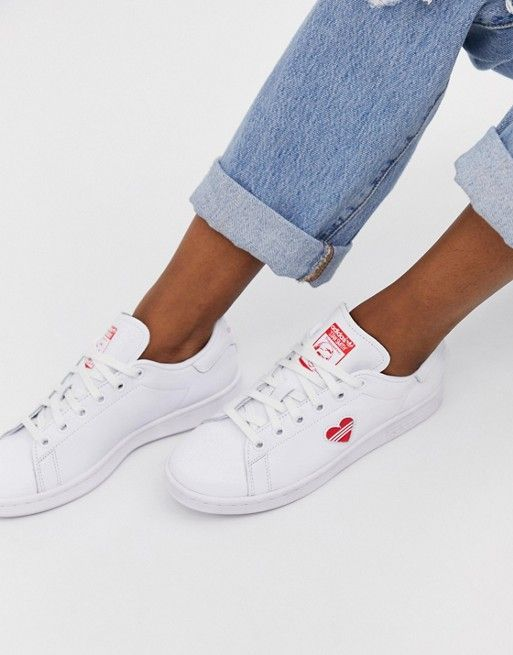 adidas Originals Stan Smith sneakers with red heart   Stan ...