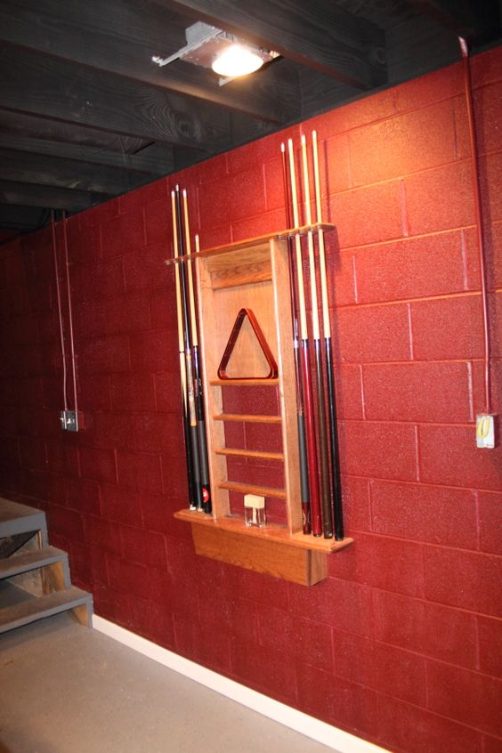 Most painted concrete block walls look terrible but red for Concrete block basement