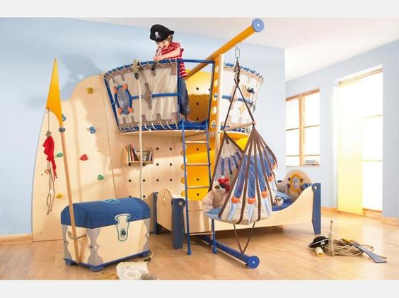 Piratenbett kinderkram pinterest design ps und s - Piratenbett kinderzimmer ...