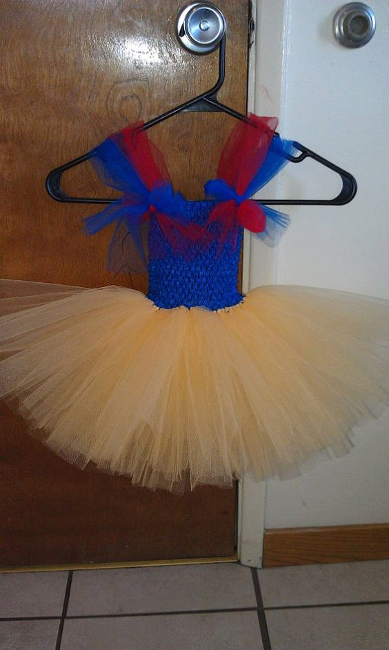 Snow White Inspired Tutu Dress by MoonieBlossoms on Etsy, $30.00