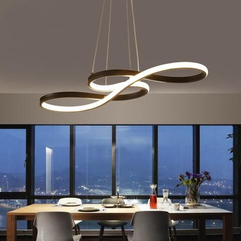 Inspired By The Meaning Of Double Infinity Symbol True Endless Love This Chandelier Is Uniqu Modern Luxury Lighting Dining Room Lighting Modern Ceiling Light