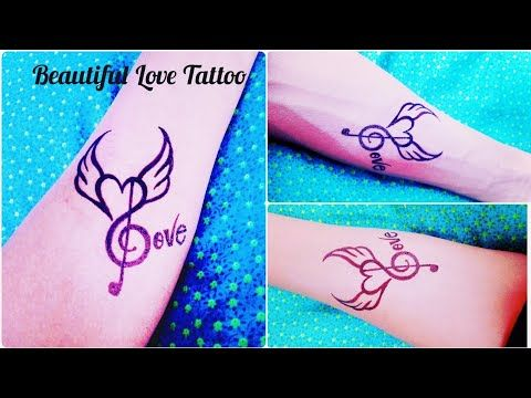 How To Make A Beautiful Love Tattoo On Hand By Tattoo Art By Kk Youtube Love Tattoo On Hand Tattoo Lettering Tattoo Designs Wrist