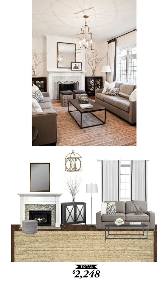 A warm classic living room in shades of gray for 2248 Shades of gray for living room