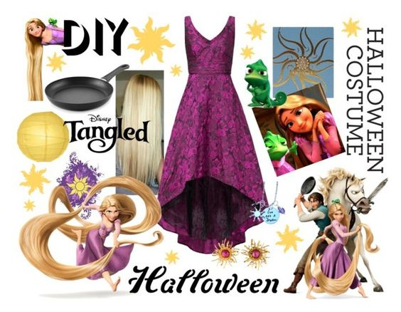 """Tangled halloween costume"" by aki9 ❤ liked on Polyvore featuring AMOUAGE, Disney, DOMINIQUE AURIENTIS, Scanpan, Cultural Intrigue, halloweencostume and DIYHalloween"