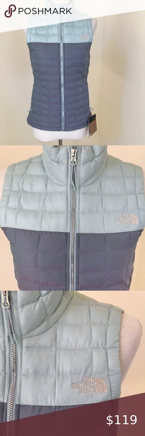 Nwt The North Face Xs Thermoball Eco Vest The North Face Xs Blue Frost Iridescent Thermoball Eco Waist The N The North Face Clothes Design North Face Jacket [ 1692 x 564 Pixel ]