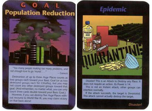 Released in the 1980s The Illuminati Card Game Population Reduction