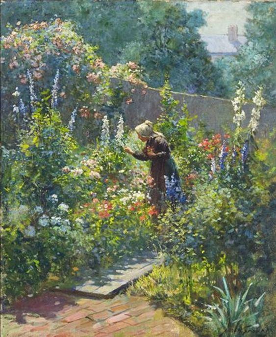 """Abbott Fuller Graves (1859-1936), """"In the Garden"""":"""