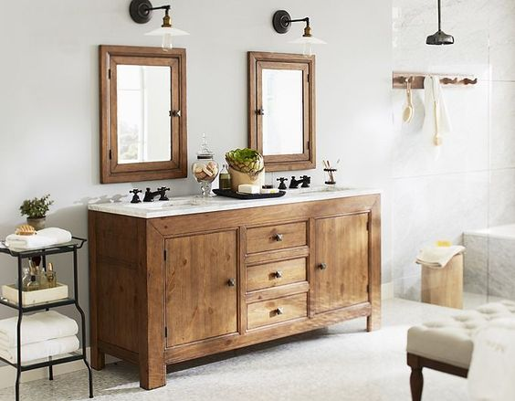17 best images about console pottery ideas for small bathrooms industrial and colors for for Pottery barn bathroom paint colors