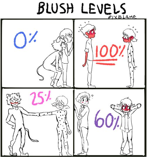 It would more be like: marichat 30% ladrien 100% ladynoir  50%