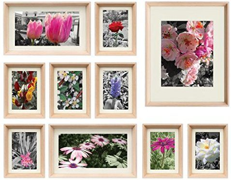 Amazon Com Golden State Art 3d Set Of 10 Multi Pack Picture Frames Photo Frame Set Home Gallery Wall Decora Gallery Wall Gallery Wall Set Picture Frame Sets