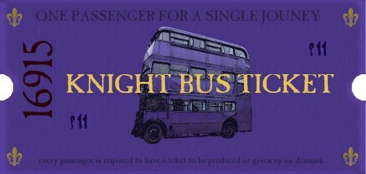 knight bus ticket - where do I get mine!?! ) Always, a Harry - bus ticket template