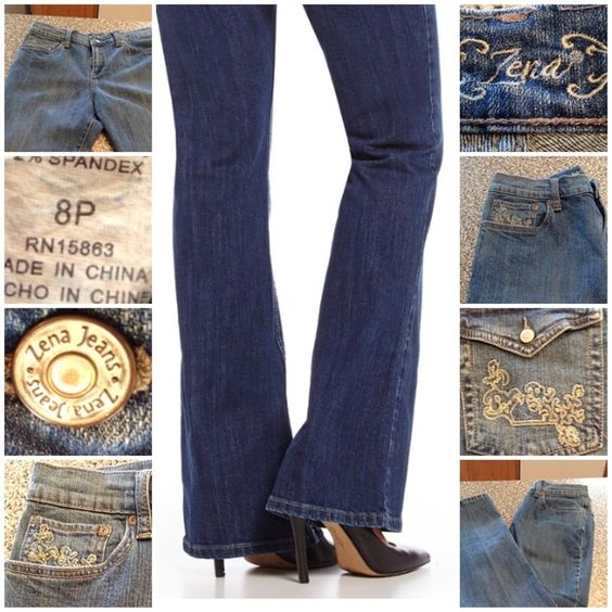 ZENA Vintage Jeans ZENA jeans are Stylish and comfortable 98% Cotton and 2% Spandex. Size 8 Petite. This item is NOT new, It is used and in Good condition. Authentic and from a Smoke And Pet free home. All Offers through the offer button ONLY.  Ask any questions BEFORE purchase. Please use the Offer button, I WILL NOT negotiate in the comment section. Thank You😃 Zena Jeans
