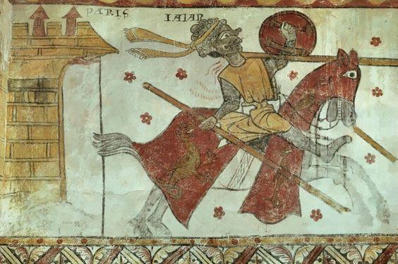 Als Spanien al-Andalus war Bis zum Ende des Mittelalters hielten sich muslimische Reiche auf der Iberischen Halbinsel. Wie sehr dies die christlichen Nachbarn verunsicherte, zeigt diese französische Wandmalerei aus der Provence, die einen sterbenden maurischen Reiter darstellt.