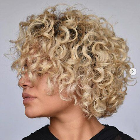 20 Short Blonde Hairstyles To Bring Straight To The Salon In 2020 Short Blonde Curly Hair Short Blonde Hair Curly Hair Styles Naturally