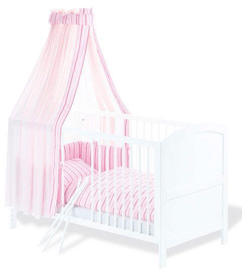 Ein Traum in Weiß - klassisch schlichtes Kinderbett.