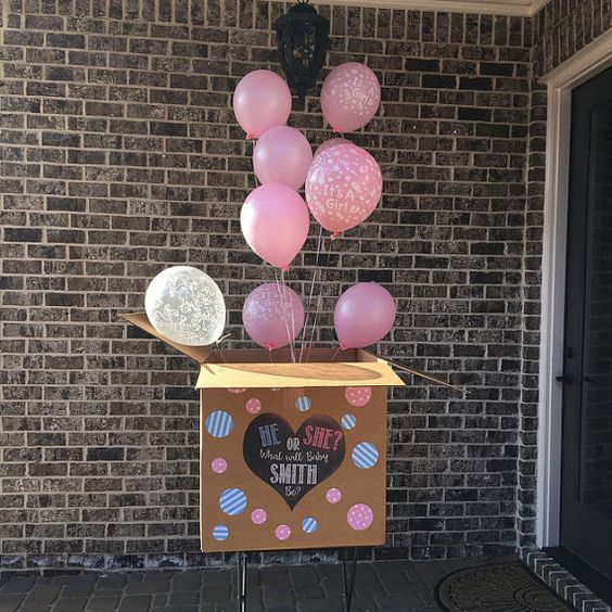 This is a custom made gender reveal box sign. Upon purchase, please provide me with the name you would like used, colors, and the size of your