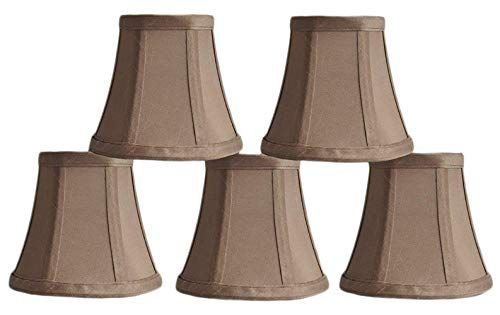 Urbanest 1100463b Set Of 5 Chandelier Mini Lamp Shades 5 Inch Bell Clip On Taupe Home Decor First In 2020 Mini Lamp Lamp Shades Chandelier Shades