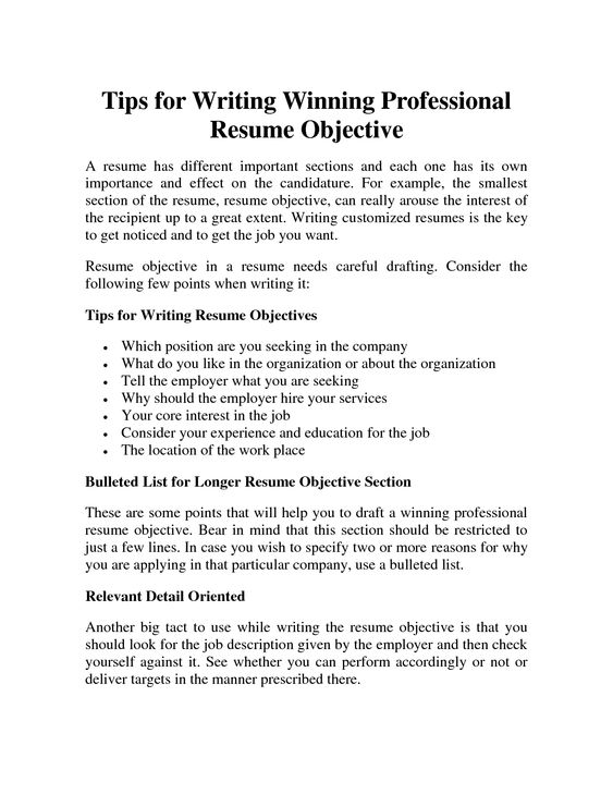 Resume Objective Statements To Inspire You How To Create A Good