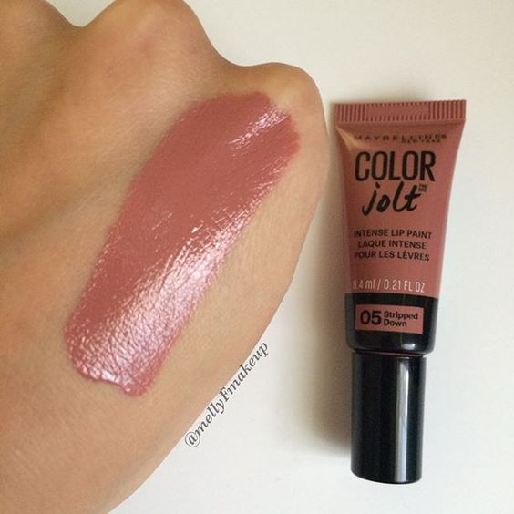 Maybelline Color Jolt Intense Lip Paint in Stripped Down. Follow my instagram @mellyfmakeup for more!